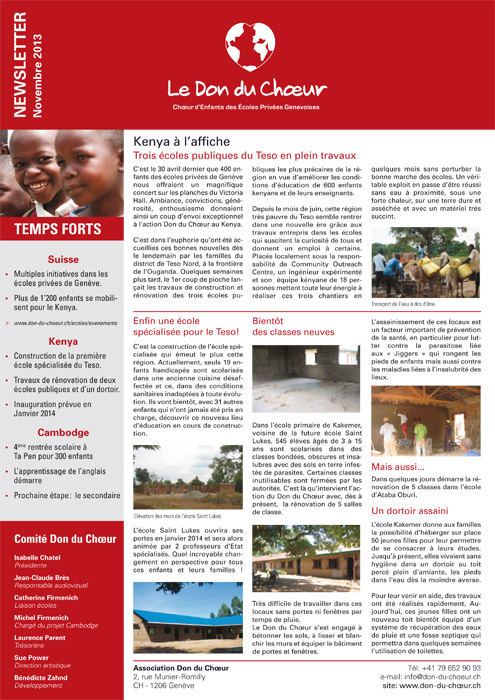 newsletter nov 2013